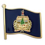 Custom Vermont State Flag Pin