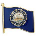 Custom New Hampshire State Flag Pin