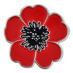 Custom Poppy Flower Lapel Pin