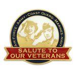 Custom Salute Our Veterans Pin