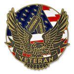 Custom Proudly Served Veteran Pin