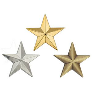 6fcde1ef061 3D Star Lapel Pin- Gold, Silver or Bronze - SG-664 - IdeaStage Promotional  Products