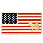 Custom American Flag Democrat Pin