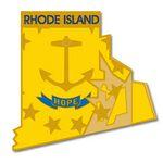 Custom Rhode Island State Pin