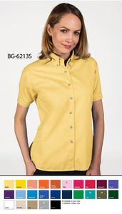 Ladies' Short Sleeve Fine Line Cotton Twill Shirt