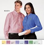 Custom Men's Long Sleeve Cotton/ Poly Oxford Shirt w/ Patch Pocket