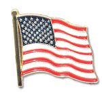 Custom Stock American Flag Lapel Pin (.75