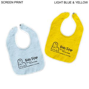 Terry Baby Bib, 11x8, Printed or Blank