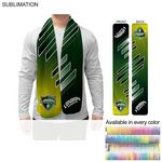 Ultra Soft and Smooth Microfleece Scarf, 8x60, Sublimated Edge to Edge BOTH sides