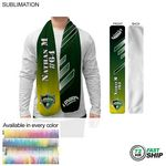 72 Hr Fast Ship - Ultra Soft and Smooth Microfleece Scarf, 8x60, Sublimated Edge to Edge 1 side