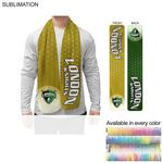 2-Tone Microfleece Scarf, Ultra Soft and Smooth, 8x60, Sublimated Edge to Edge BOTH sides