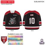 Personalized Sublimated Hockey Jersey Shape Rally Towel