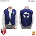 Custom Twill Supermarket Vest, Printed or Blank