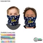72 Hr Fast Ship - Sublimated Tubular YOUTH Neck Gaiter Facemasks (Imported and in stock)