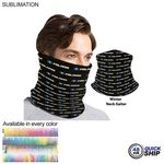 48 Hr Quick Ship - Sublimated Multifunction Tubular 2-ply WINTER Neck Gaiter (Polyester Microfleece)