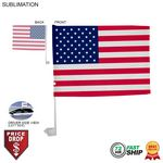 72 Hr Fast Ship - Standard Car Flags, 12x15, Sublimated