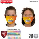 Sublimated 2ply Antimicrobial YOUTH Cloth Face mask available in EVERY COLOR