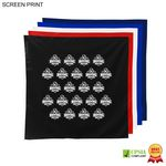Square Bandana, 22x22, Printed or Blank