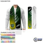 48 Hr Quick Ship - Ultra Soft and Smooth Microfleece Scarf, 8x60, Sublimated Edge to Edge 1 side