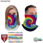 72 Hr Fast Ship - Sublimated BEST VALUE lightweight Seamless Neck Gaiter (Imported and in stock)