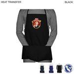 Custom Twill Economy Apron, 2 Pockets, Heat Transfer or Blank