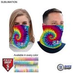 48 Hr Quick Ship - Sublimated BEST VALUE lightweight Seamless Neck Gaiter (Imported and in stock)