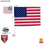Standard Car Flags, 12x15, Sublimated or Blank