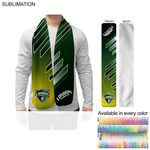 Ultra Soft and Smooth Microfleece Scarf, 8x60, Sublimated Edge to Edge 1 side