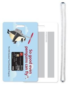 4 Colour Process Recycled Standard Size Write-On Surface Luggage Tag, #WBLT1-4CP, Full Colour Imprint