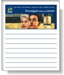 50 Page Magnetic Note-Pads with 4 Colour Process (3.5