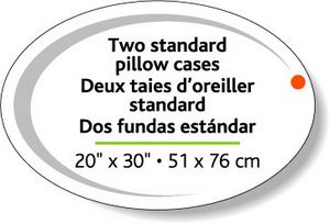 White Gloss Block-Out Flexo-Printed Stock Oval Labels (2