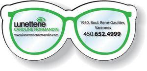 Stock Eye Glasses Magnet .020, Full Colour Digital, White Vinyl Topcoat, #SD3/020-4CP, Full Colour Imprint
