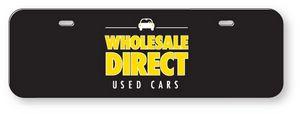 .060 White Styrene Licence Plates (3.875