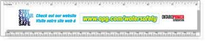 .040 Clear Plastic Rulers, InkJet Full Colour + white. Square corners, #CPR7S/040-4CP, Full Colour Imprint