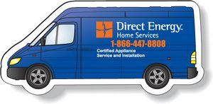 Stock Sprinter Van Magnet .020, Full Colour Digital, White Vinyl Topcoat, #SD76/020-4CP, Full Colour Imprint