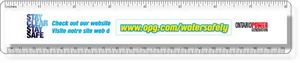 .040 Clear Plastic Rulers, InkJet Full Colour + white. Round corners, #CPR7R/040-4CP, Full Colour Imprint