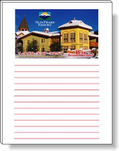 50 Page Magnetic Note-Pads with 4 Colour Process (4.25