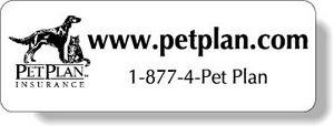 White Gloss Polypropylene Roll Labels Stock Rectangle (1.25