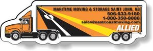 Stock 18-Wheeler Magnet .020,Full Colour Digital, White Vinyl Topcoat, #SD36/020-4CP, Full Colour Imprint