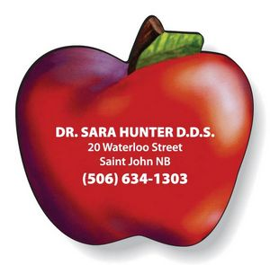 Stock Apple Magnet .020, High Res. Full Colour Digital, White Vinyl Topcoat, #SD74/020-4CP, Full Colour Imprint