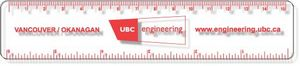 .040 Clear Copolyester Ruler / round corners (1.25