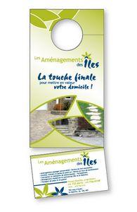 14pt Card Stock Door Hanger with Tear-Off, 3.5
