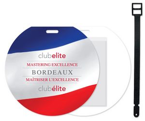 4 Colour Process Plastic Jumbo Round Slip-In Pocket Golf/Bag Tag, #SLT6-4CP, Full Colour Imprint