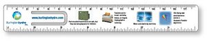 .020 White Plastic Punched Clip Bookmark Rulers - 1