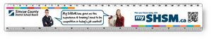 .040 Clear Plastic Rulers, InkJet Full Colour + white. Round corners, #CPR10R/040-4CP, Full Colour Imprint