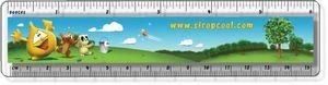 .040 Clear Plastic Rulers, InkJet Full Colour + white, (1.5