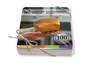 Gift Boxed Set of 4 Premium Coasters .010 Frosted Plastic Top & 1/16