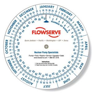 .020 White Plastic Date Finder Wheel Calculator (6