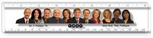 .040 Clear Plastic Rulers, InkJet Full Colour + white / Round corners, #CPR8R/040-4CP, Full Colour Imprint