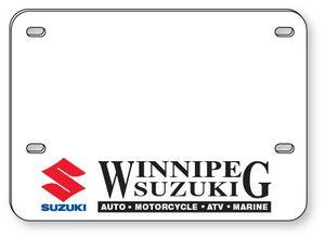 .060 White Styrene Licence Plates (5.625